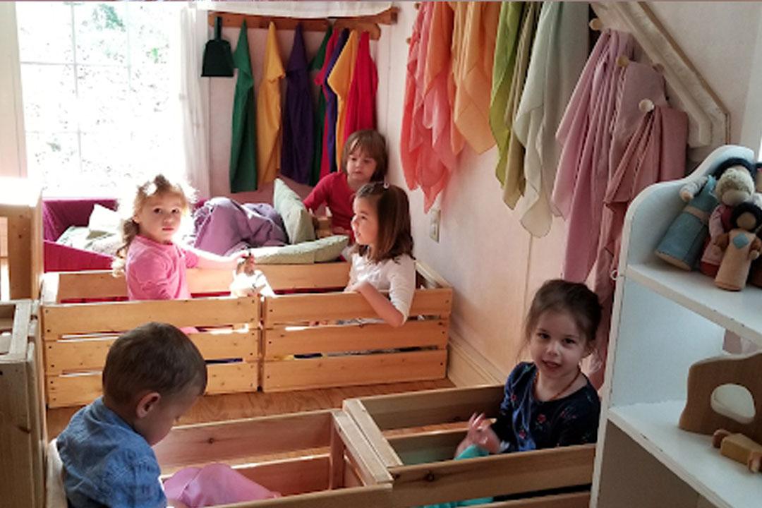 Children playing at nursery